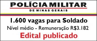 A Polícia Militar de Minas Gerais (PM-MG) formação de soldado 2013-2014 opcão apostilas