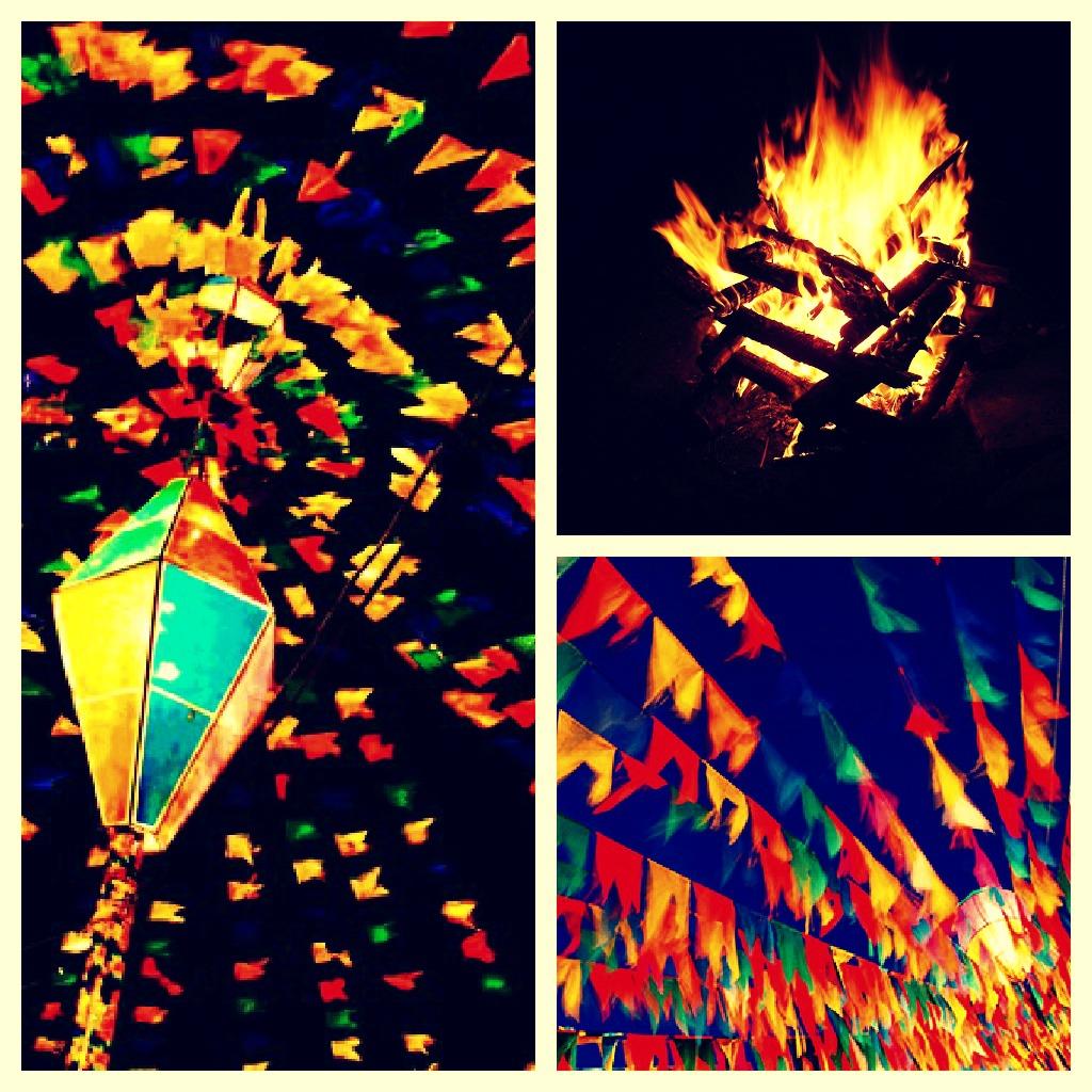 Bandeirinhas de festa junina dão um toque a mais em qualquer festa