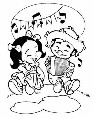 Confira alguns desenhos de festa junina para colorir