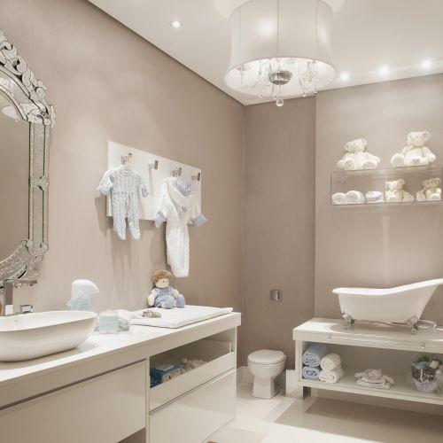 Banheiros e lavados podem receber pintura desde que tomados os devidos cuidados.