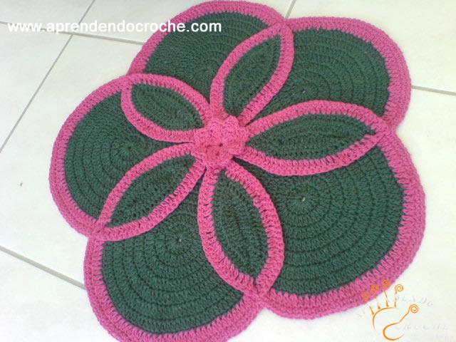 Como fazer tapetes de crochê1