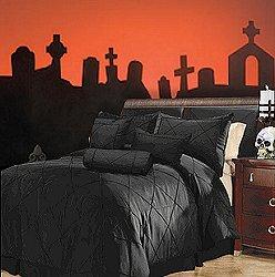 utilize o preto em roupas de cama