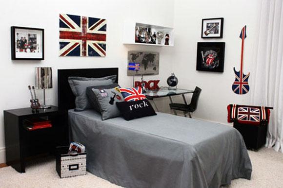 quarto inspirado em bandas britânicas
