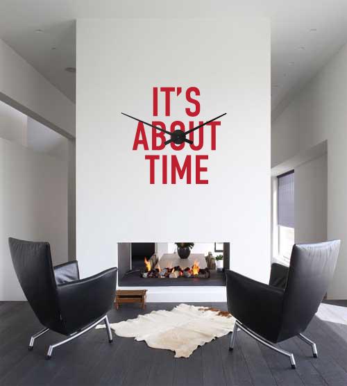 Os relógios de parede podem ser usados em qualquer ambiente da casa