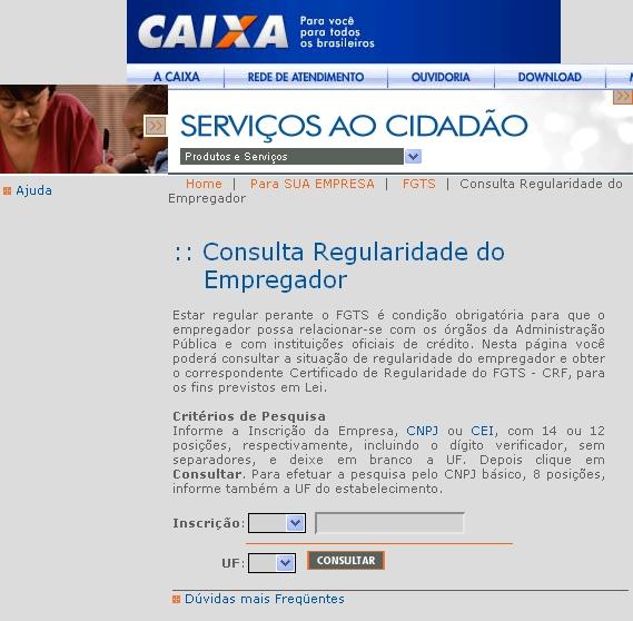 No site da caixa é pratico fazer sua emissão de certidão negativa FGTS