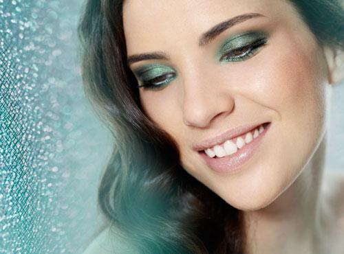 Maquiagem para vestido verde