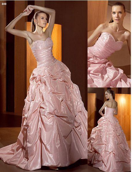 Vestido de noiva cor de rosa, fotos
