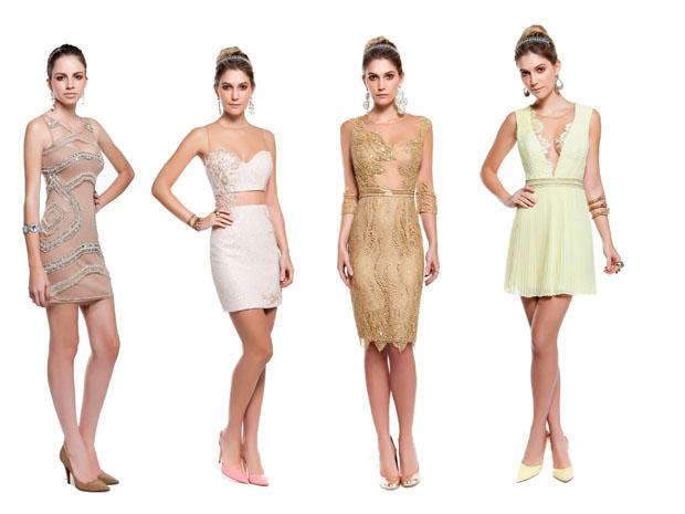Os vestidos dourados vão ser uma das fortes tendências do réveillon 2015 (Foto: Divulgação)