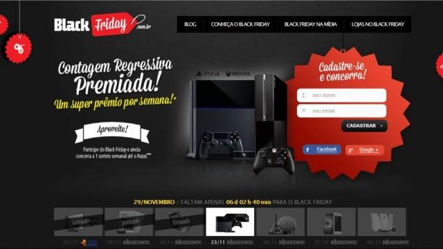 Acesse o site do Black Friday Brasil 2014 e faça seu cadastro para receber as promoções das lojas participantes (Foto: Divulgação)