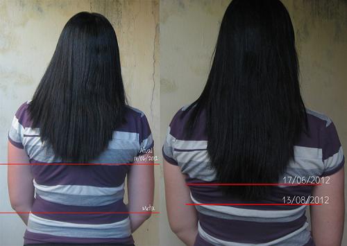 Mais um exemplo de como o cabelo aumenta com o uso desse produto (Foto: Divulgação)