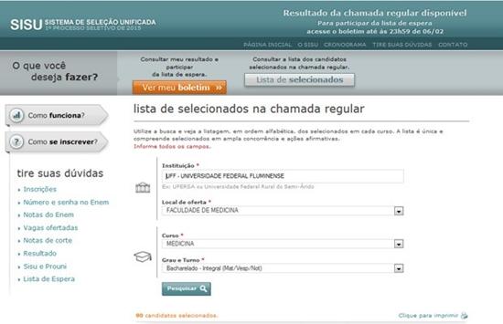 Acesse o site do Sisu para ver se você foi um dos aprovados (Foto: Divulgação)