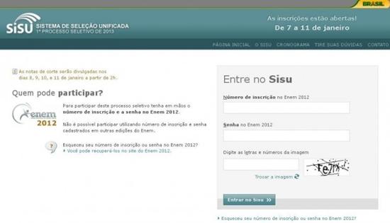 Acesse o site do Sisu e faça sua inscrição (Foto: Divulgação)