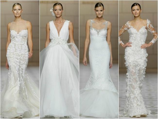 Existem diversos modelos de vestidos de noivas (Foto: Divulgação)
