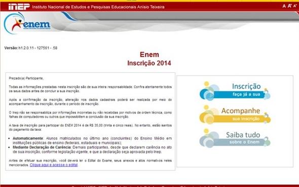 Fique atento e faça as inscrições no site do Inep (Foto: Divulgação)
