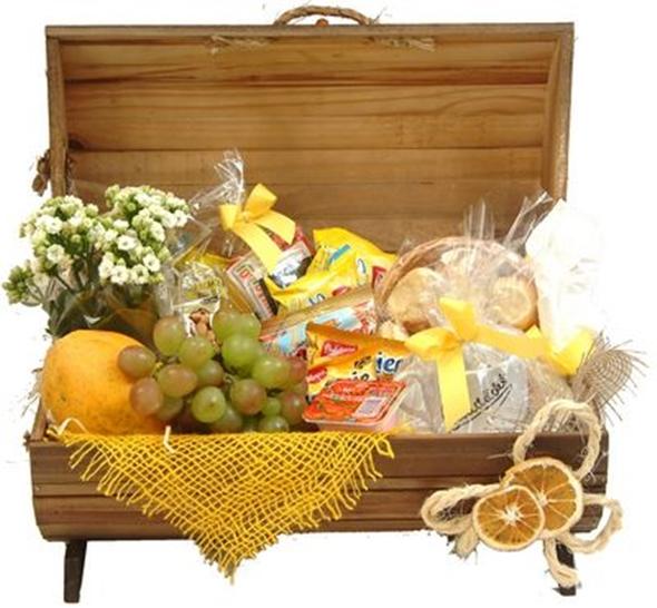 Existem diversos tipos de cestas de café de manhã para presente (Foto: Divulgação)