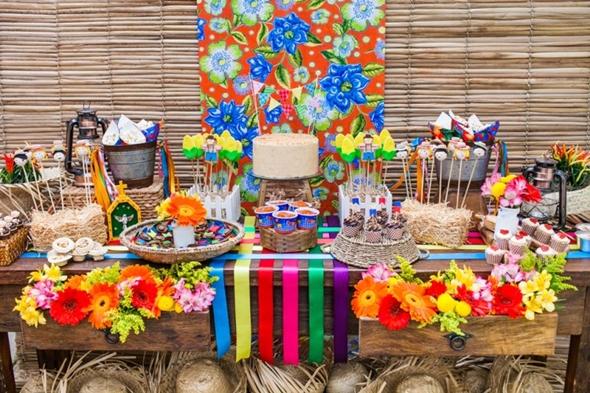 A decoração de festa junina infantil é mais simplificada (Foto: Divulgação)