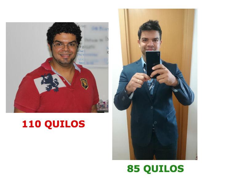 Esse é Paulo Lima antes e depois do emagrecimento (Foto: Divulgação)