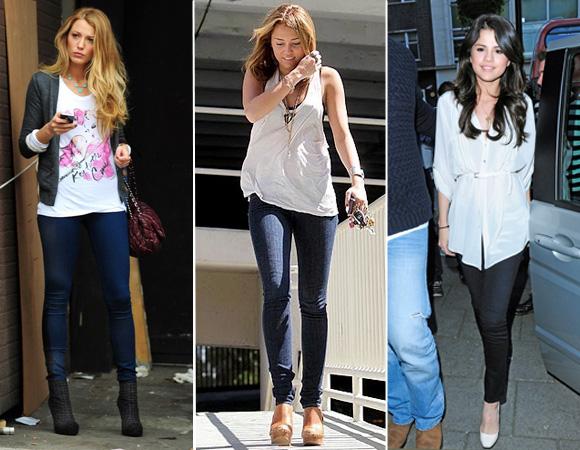 Calça legging jeans moda fashion (foto ilustração)