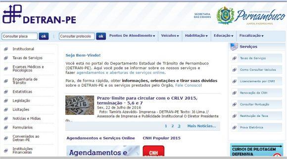 Detran Pernambuco – Serviços Online (1)